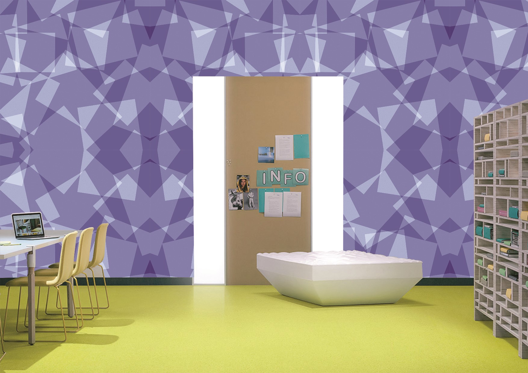 Polygonal collection wallcoverings by INTUITIVE DESIGN