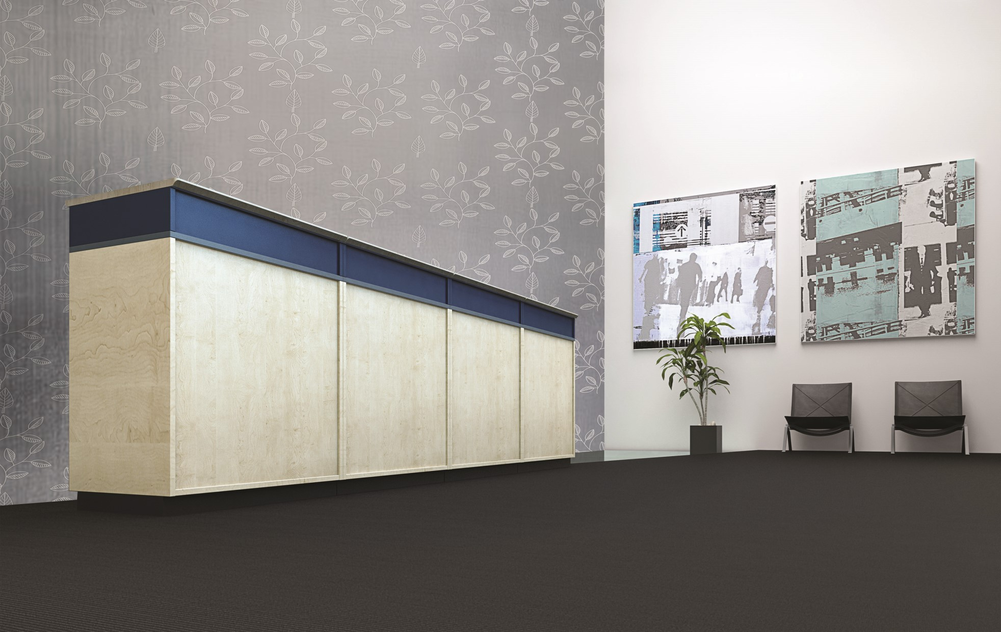 Silver collection wallcoverings by INTUITIVE DESIGN