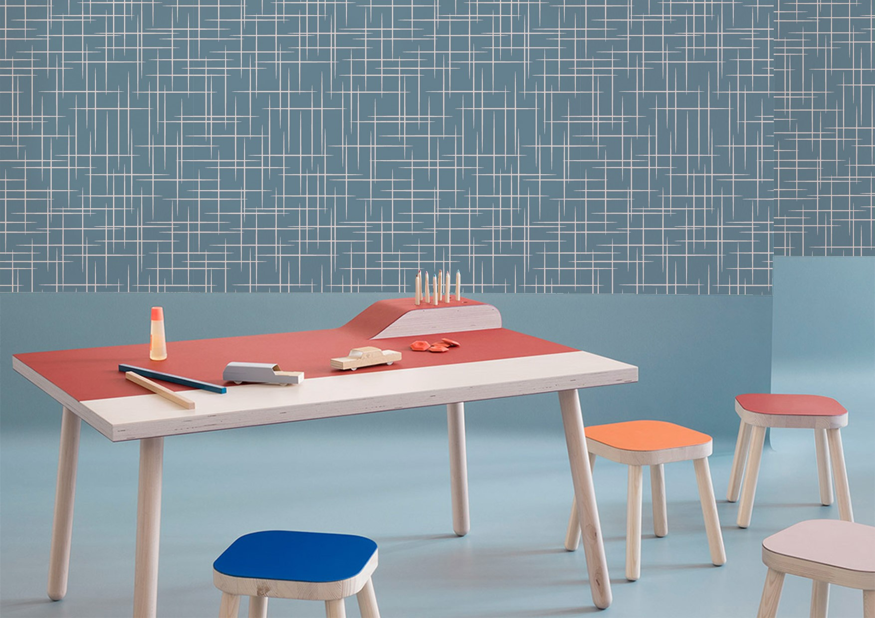 Linear collection wallcoverings by INTUITIVE DESIGN