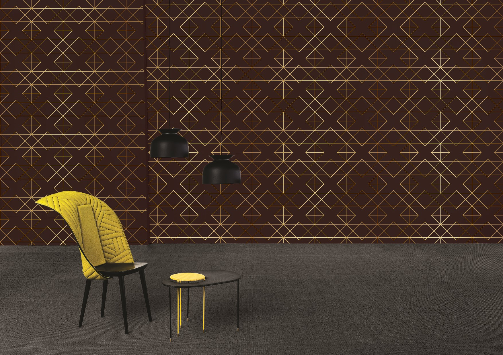 Gold collection wallcoverings by INTUITIVE DESIGN