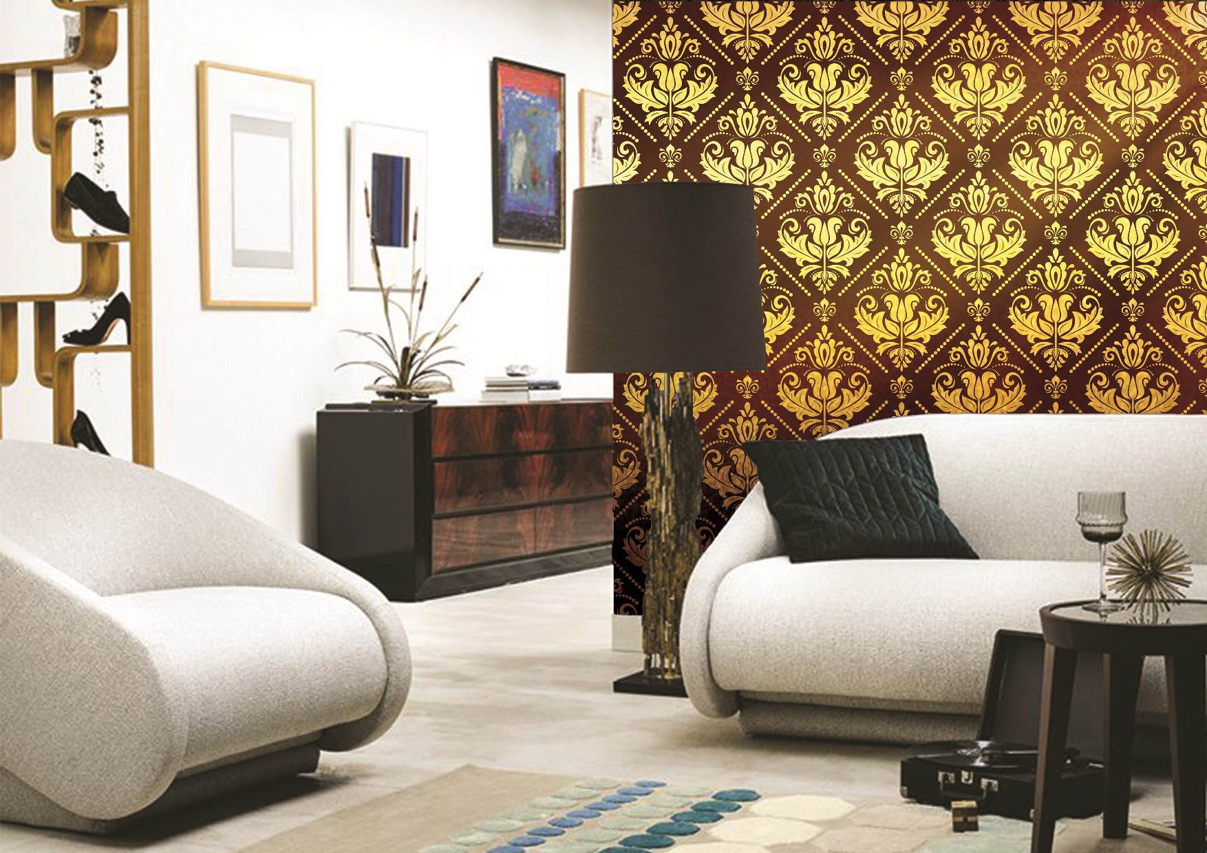 Golden wallpapers prints collection by INTUITIVE DESIGN