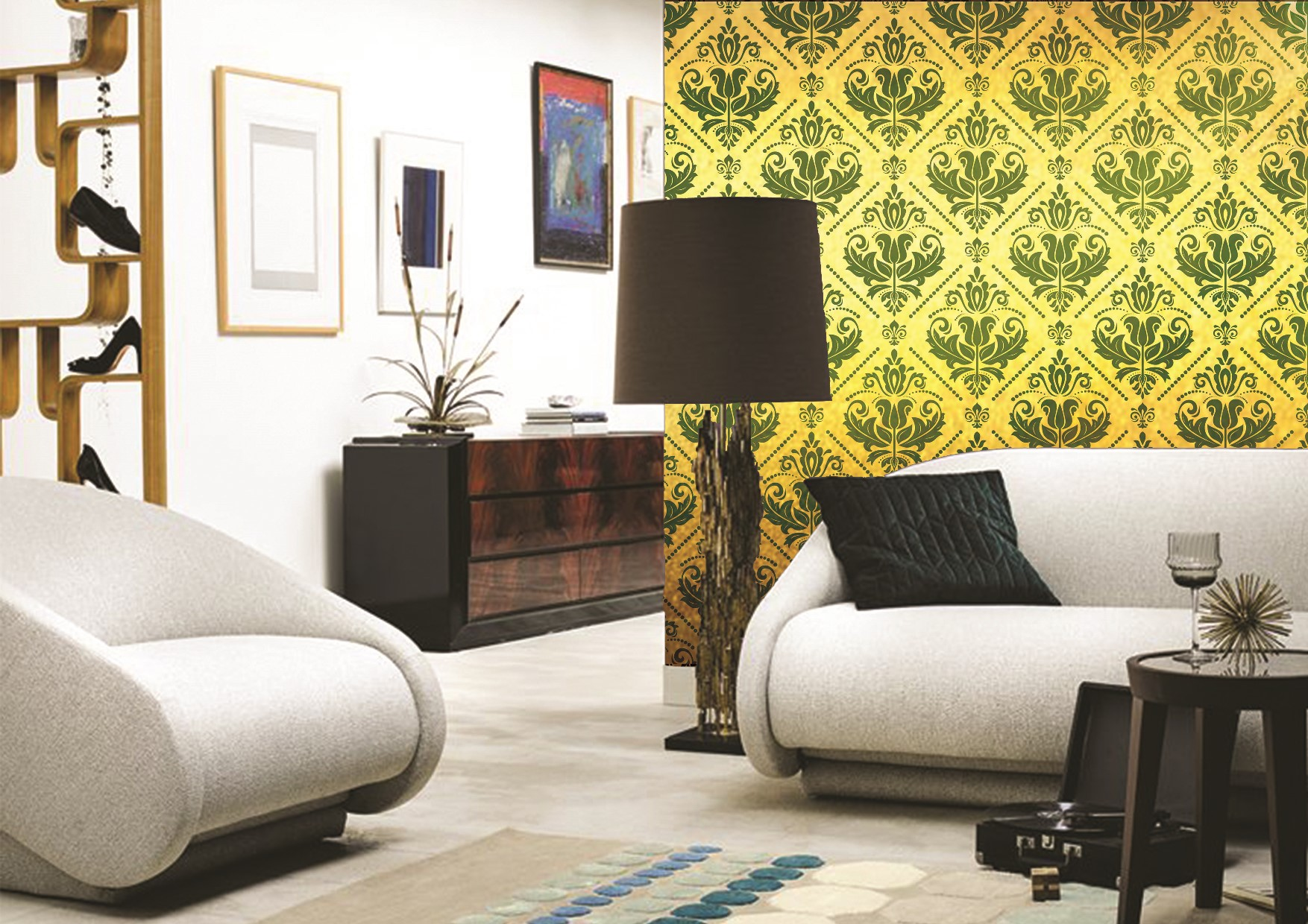 Gold wallpapers prints collection by INTUITIVE DESIGN