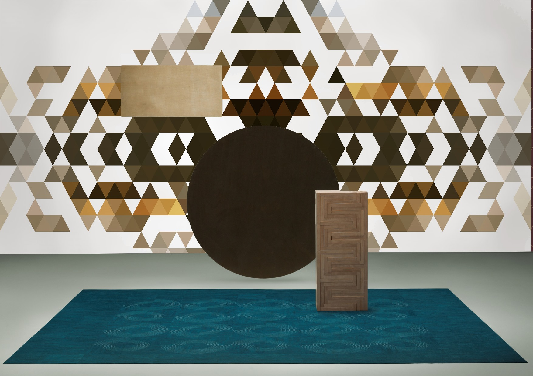 Geometry collection wallcoverings by INTUITIVE DESIGN